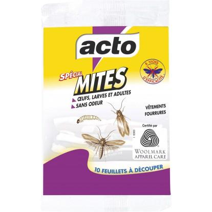 Papier imprégné anti-mites Acto - 10 feuillets découpables