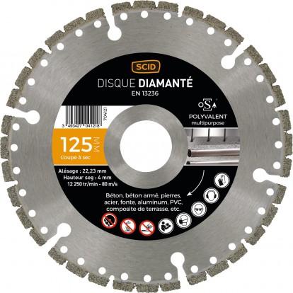 Disque diamanté polyvalent expert SCID - Diamètre 125 mm