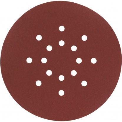 Disque auto-agrippant SCID - 16 trous - Grain 80 - Diamètre 225 mm - Vendu par 5