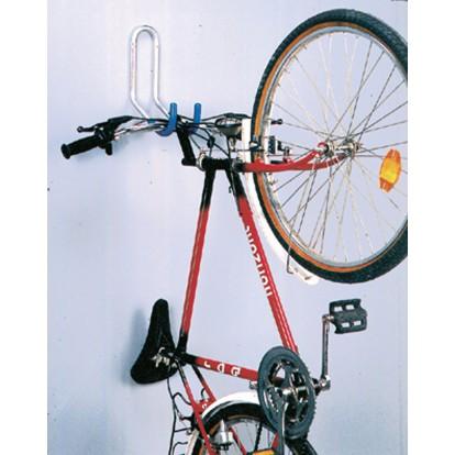 Crochet 1 vélo mural gainé Mottez - Double