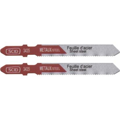 Lame de scie sauteuse métal HSS accroche en T SCID - Epaisseur 1 mm - Longueur 75 mm - Vendu par 2