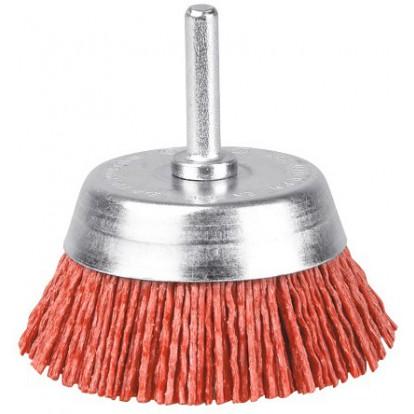 Brosse conique nylon rouge SCID - Diamètre 75 mm