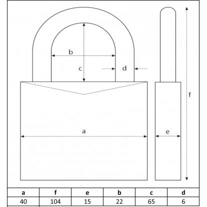 Cadenas laiton haute résistance anse longue Ifam - Anse 6 mm - Longueur 40 mm