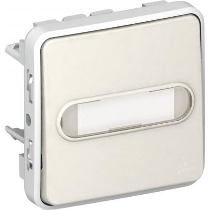 Poussoir Legrand - Plexo - Porte-étiquettes - Blanc