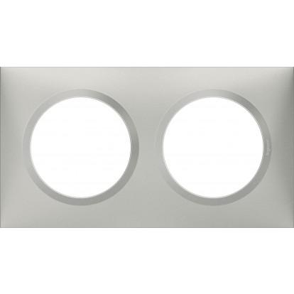 Plaque 2 postes Dooxie Legrand - Aluminium