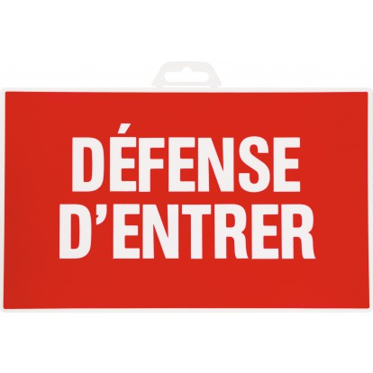 Panneau de signalisation rectangulaire Novap - Défense d'entrer