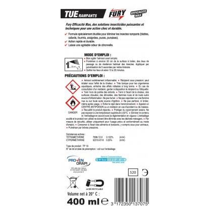 Tous insectes rampants Fury - Aérosol 400 ml