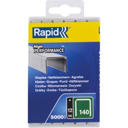 Agrafe n°140 Rapid Agraf - Hauteur 12 mm - 5000 agrafes