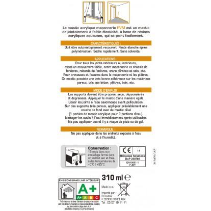 Mastic maçonnerie PVM - Gris