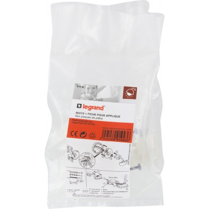 Boîte à encastrer pour luminaire Batibox Legrand - Boîte cloison sèche - Boîte + fiche pour applique