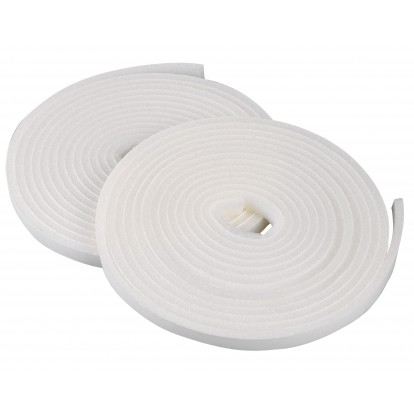 Joint mousse polyester PVM - Blanc - Largeur 9 mm