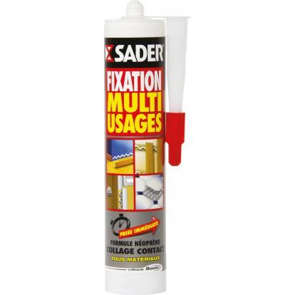 Colle mastic fixation Sader - Cartouche 310 ml