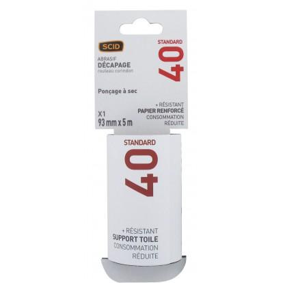 Rouleau abrasif SCID - Grain 40 - Vendu par 1