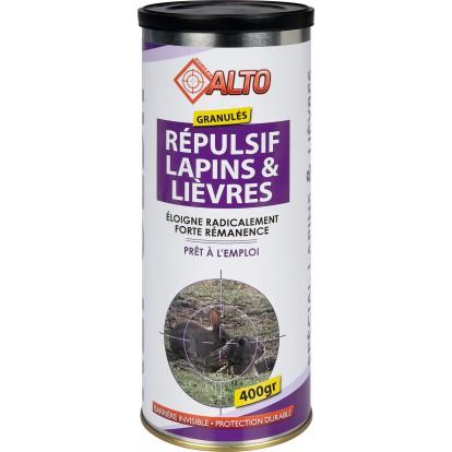 Répulsif granulés spécial lapins et lièvres prêt à l'emploi Alto - Boîte 400 g