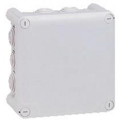 Boîte de dérivation Plexo carrée 130 x 130 mm Legrand - 10 entrées - Gris