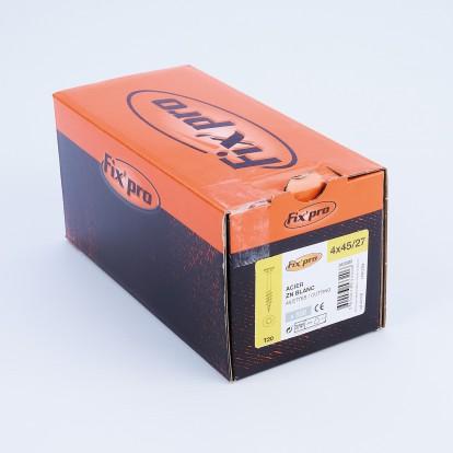 Vis à bois tête fraisée TX - 4x45/27 - 500pces - Fixpro