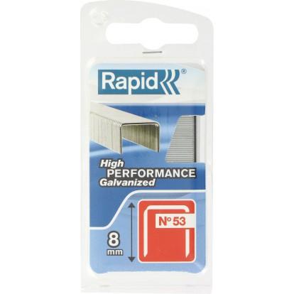 Agrafe n°53 Rapid Agraf - Hauteur 8 mm - 1080 agrafes