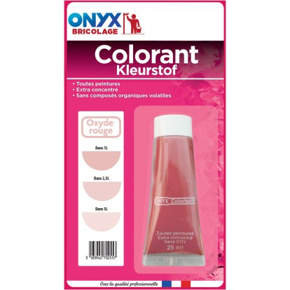 Colorant universel 25 ml Onyx - Oxyde rouge