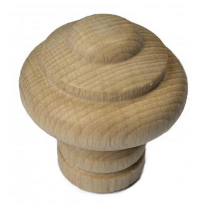 Bouton rustique hêtre naturel Headbourne - Diamètre 40 mm - Hauteur 40 mm - Vendu par 1