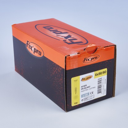 Vis à bois tête fraisée TX - 6x90/60 - 150pces - Fixpro