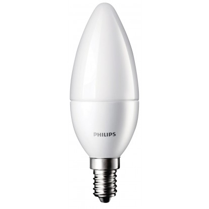 Ampoule LED flamme E14 Philips - 470 Lumens - 5,5 W