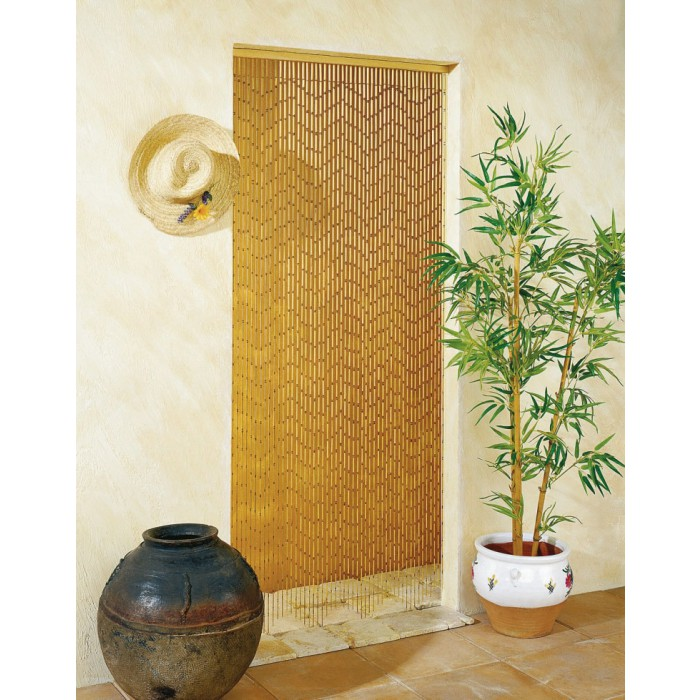 rideau de porte bambou garrigue morel 90 x 200 cm de rideau de porte. Black Bedroom Furniture Sets. Home Design Ideas