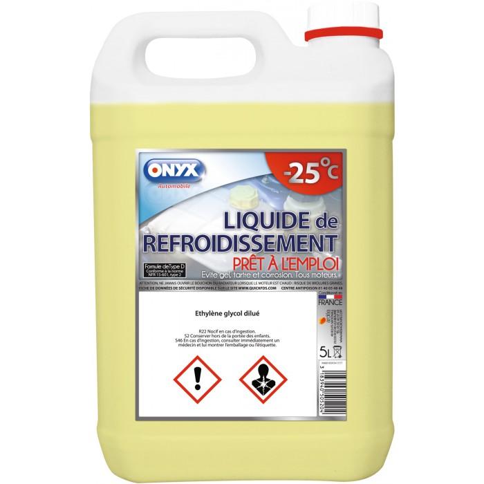 liquide de refroidissement onyx bidon 5 l de liquide de refroidissement. Black Bedroom Furniture Sets. Home Design Ideas