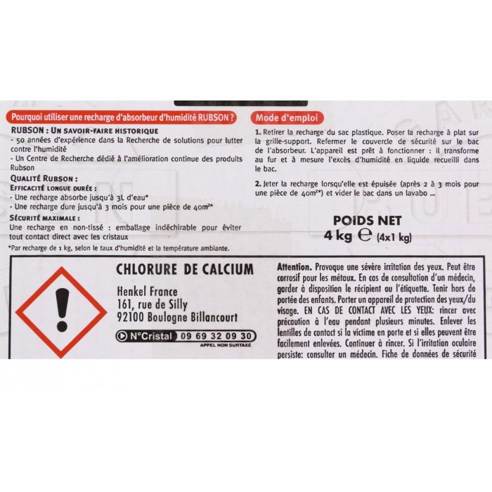 Recharge classic rubson 1 kg 4 dont 1 gratuite de recharge pour absorbeur d 39 humidit - Recharge absorbeur d humidite rubson ...