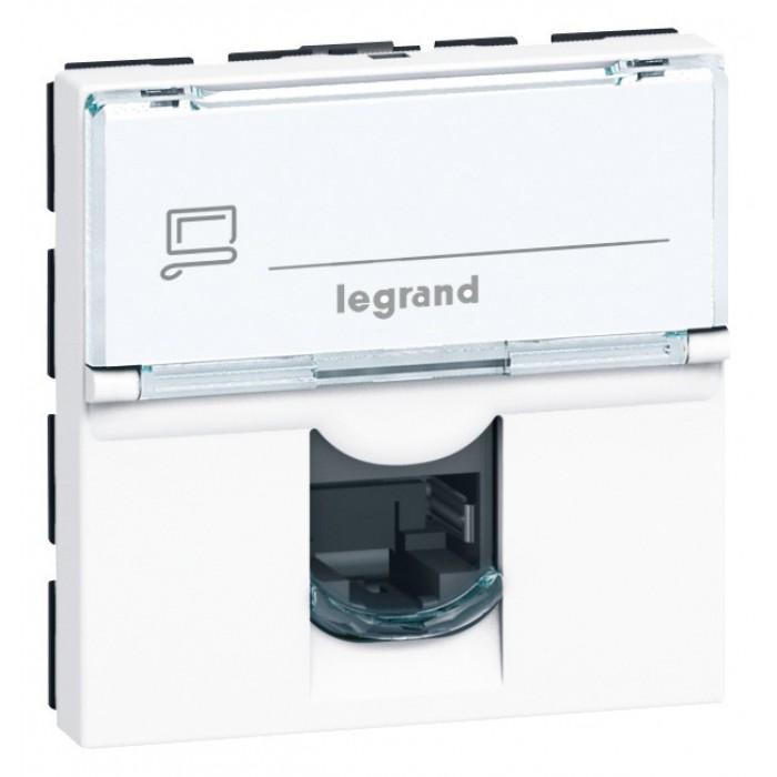 prise rj45 informatique t l phone legrand mosa c 2 modules de prise rj45. Black Bedroom Furniture Sets. Home Design Ideas