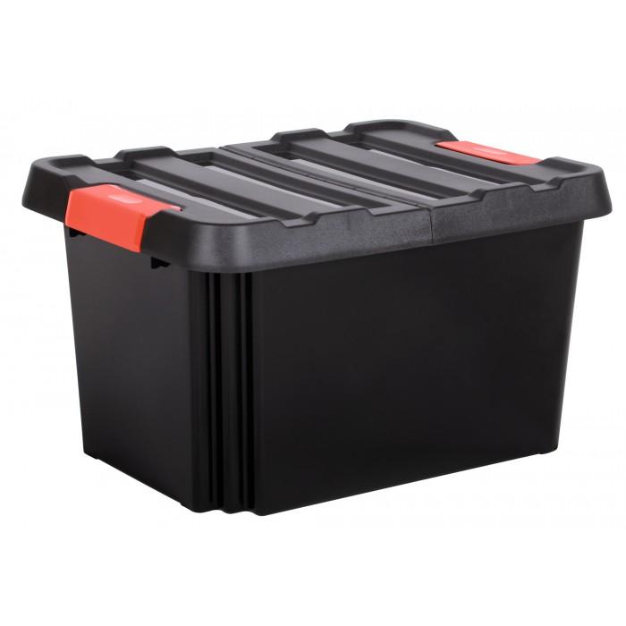 Bac de rangement avec couvercle Stock'R Eda - 85 l de Boîte de rangement