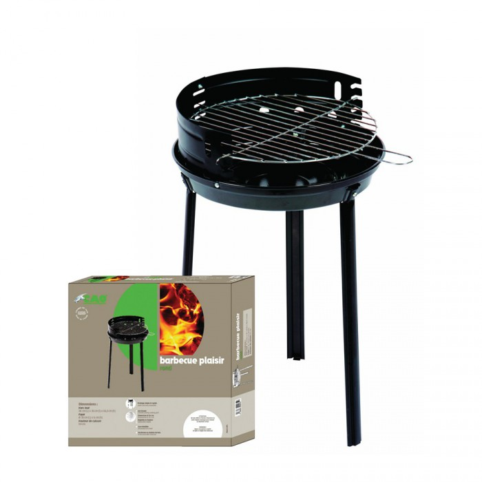 barbecue rond acier plaisir cao camping de barbecue d 39 ext rieur 1124439 mon magasin g n ral. Black Bedroom Furniture Sets. Home Design Ideas