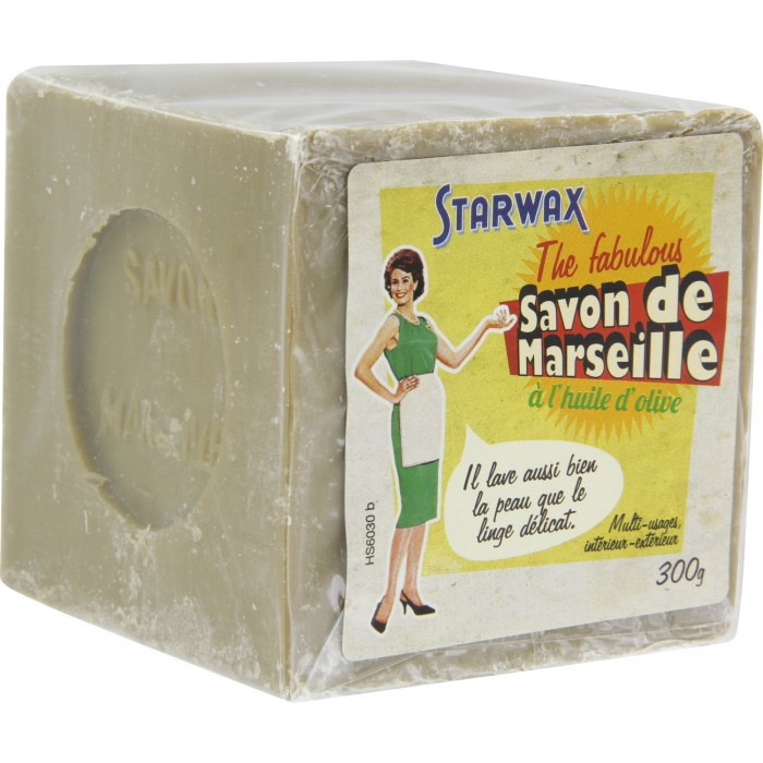 savon de marseille starwax the fabulous cube olive 300 g de savon de marseille. Black Bedroom Furniture Sets. Home Design Ideas