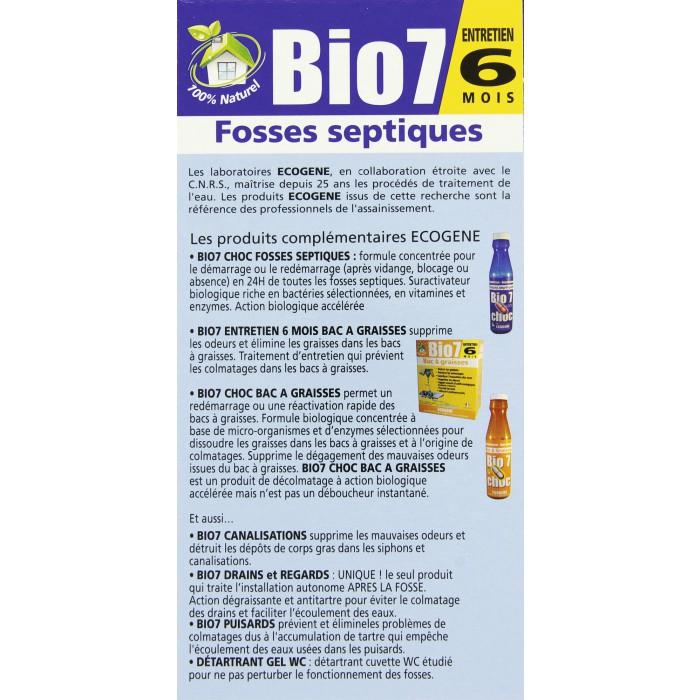 Bio 7 entretien fosses ecog ne 480 g 6 sachets de - Fosse septique entretien ...