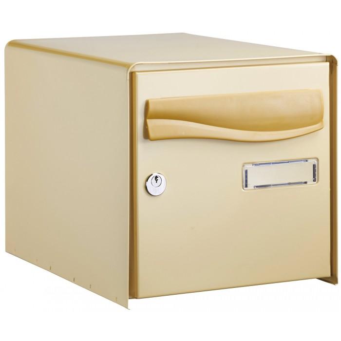 Bo te aux lettres ouverture totale r box lys decayeux simple face beige - Renz boites aux lettres ...