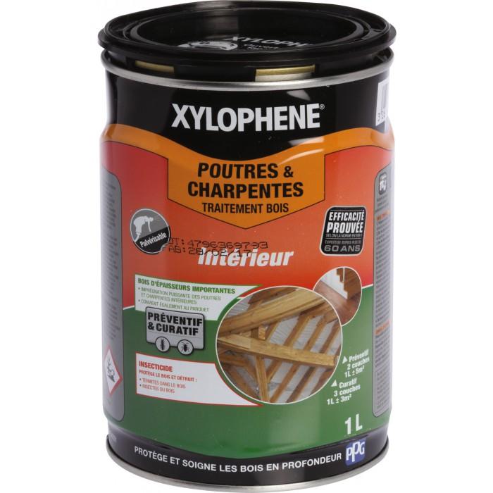 Xyloph ne poutre et charpente bidon 1 l de xyloph ne poutre et charpente - Xylophene traitement poutres et charpentes ...