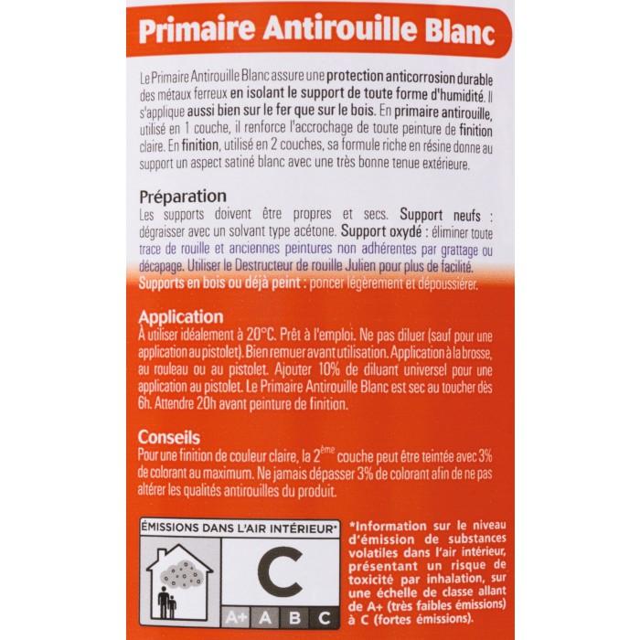 antirouille blanc julien bo te 500 ml de antirouille blanc 1065206 mon magasin g n ral. Black Bedroom Furniture Sets. Home Design Ideas