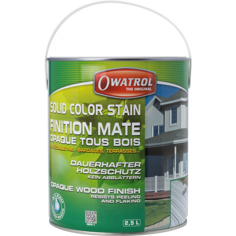 Laque de finition opaque mate décorative Owatrol - Argile - 2,5 l