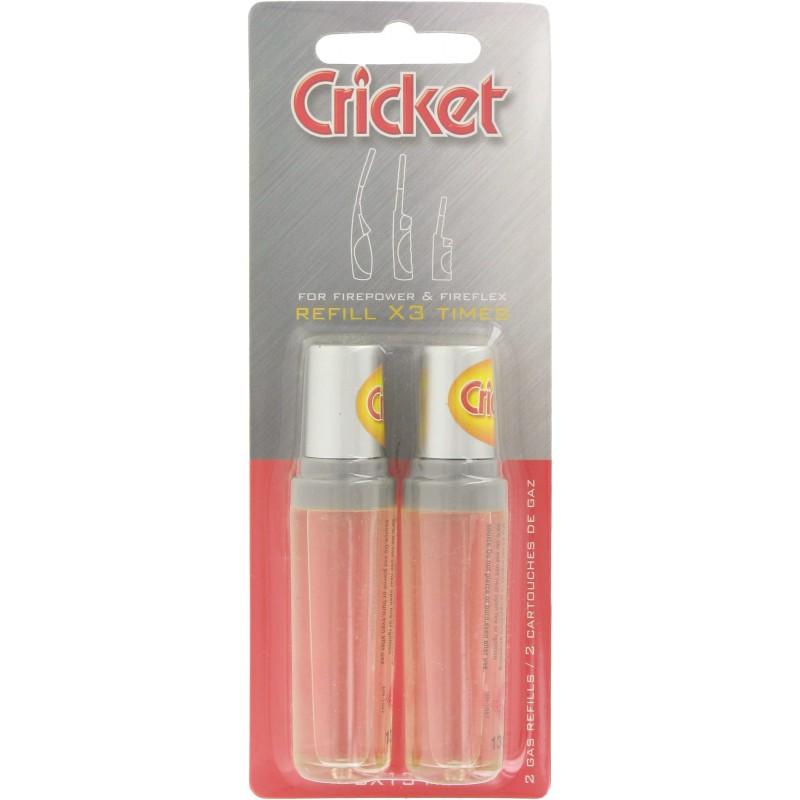 Briquet allume feu Cricket - Recharge gaz x2 + embout universel