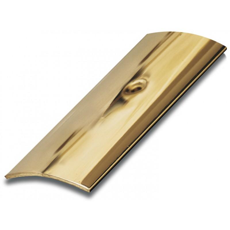 Bande de seuil adhésive laiton poli Dinac - Longueur 83 cm - Largeur 30 mm