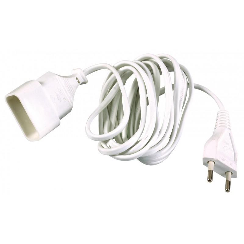 Prolongateur câble méplat Dhome - H03 VV-H 2F 2 x 0,75 mm² - Longueur 2 m
