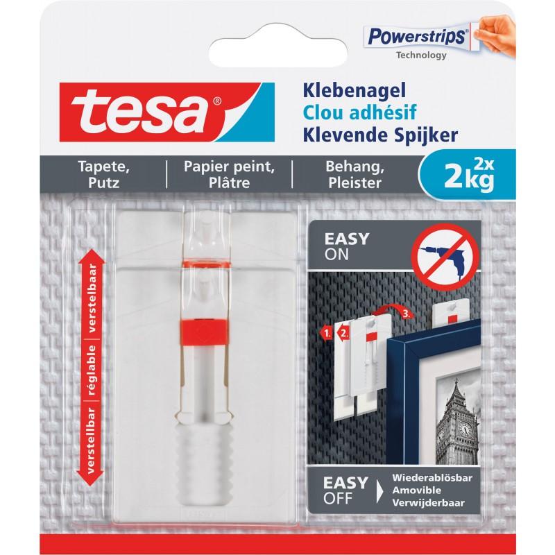 Clou adhésif pour papier peint et plâtre ajustable tesa® - 2 kg