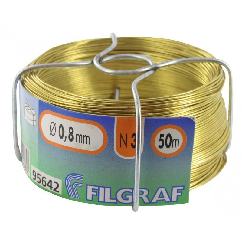 Bobinot laiton - Diamètre 0,8 mm
