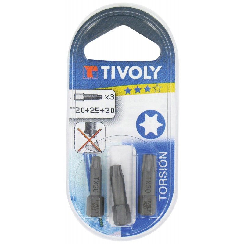 Embout torsion pour vis étoilée Tivoly - T15 - Vendu par 1
