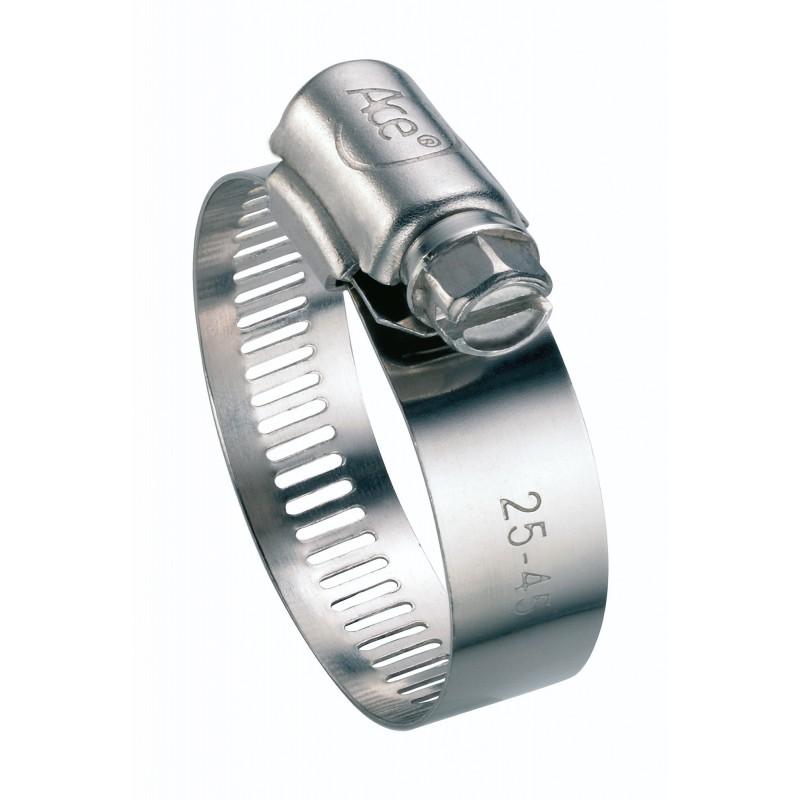 Collier à bande inox W4 Cap Vert - Diamètre 14 - 22 mm - Largeur 13 mm - Vendu par 2