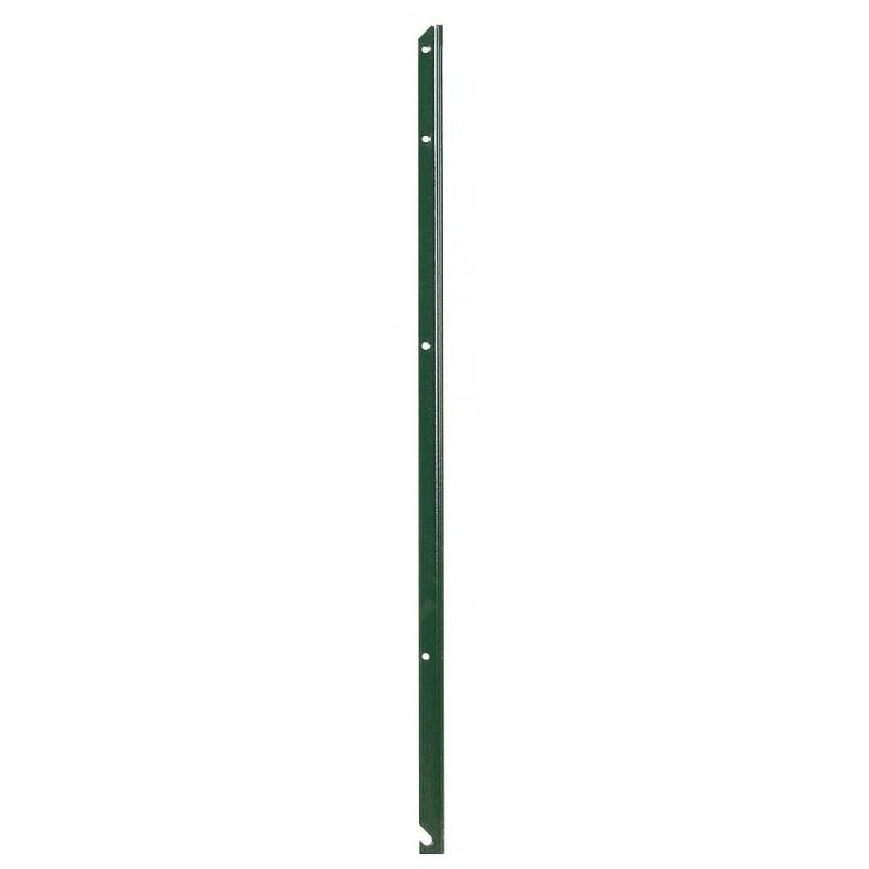 Piquet de clôture simple en T plastifié vert Filiac - Hauteur 0,75 m - Section 30 x 30 mm