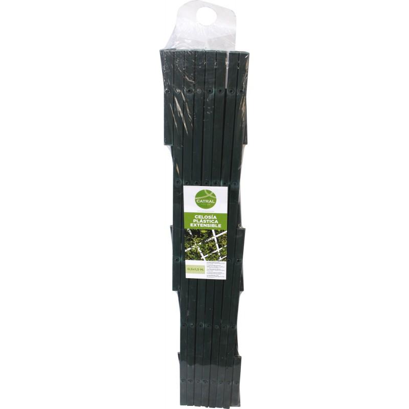 Treillis PVC extensible Catral - Vert - Longueur 1,5 m - Hauteur 0,5 m