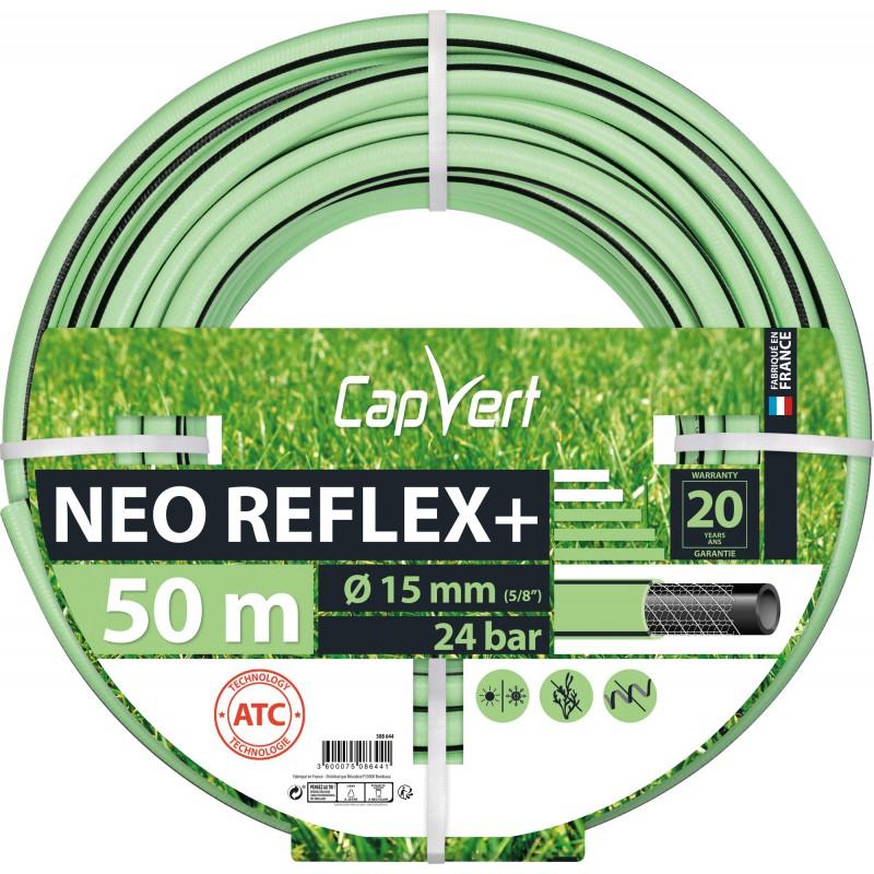 Tuyau d'arrosage Néo Reflex+ Cap Vert - Diamètre 15 mm - Longueur 50 m