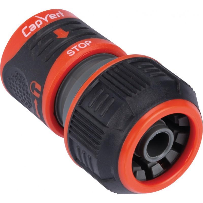 Raccord rapide stop Lock d'arrosage avec blocage Capvert - Bi-matière - Diamètre 19 mm