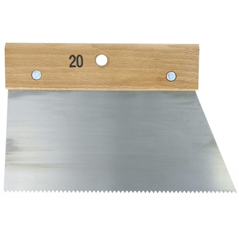 Couteau à colle Outibat - Denture pointue normale - 250 g/m² - Dimensions 200 mm