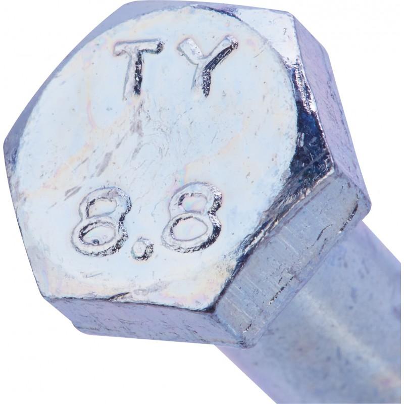 Boulon 6 pans tête hexagonale 8.8 acier zingué - 8x60/22 - 25pces - Fixpro